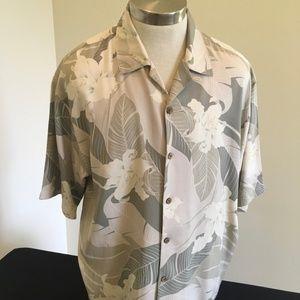 Tommy Bahama 100% Silk Casual Trop Shirt Size L